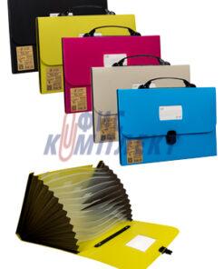 Чанта за документи с различни цветове с 13 раздела
