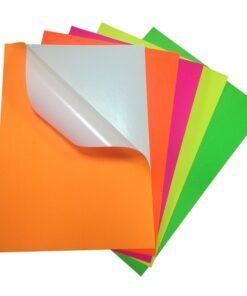 Цветна самозалепваща хартия А4
