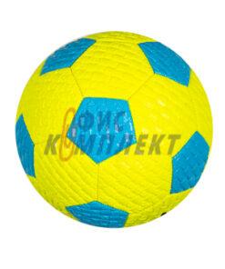 Футболна топка кожена с плетка