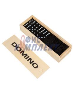 Домино в дървена кутия