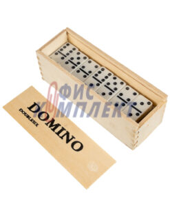 Домино в дървена кутия 28 елемента