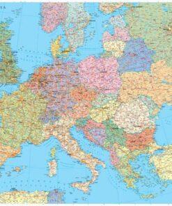 Карта на Европа 70/100см